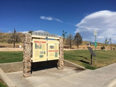 Pueblo - Trail Days Marker at I-25 rest area. image. Click for full size.