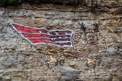 The Legend of the Piasa Marker image. Click for full size.