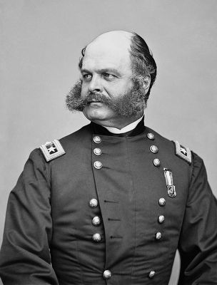 Major General Ambrose Burnside (1824-1881) image. Click for full size.