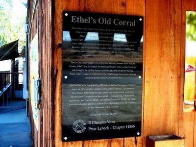 Ethel's Old Corral Marker image. Click for full size.