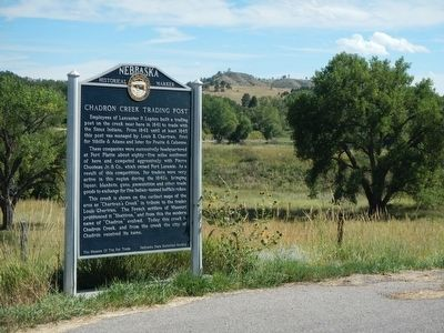 Chadron Creek Trading Post Marker image. Click for full size.