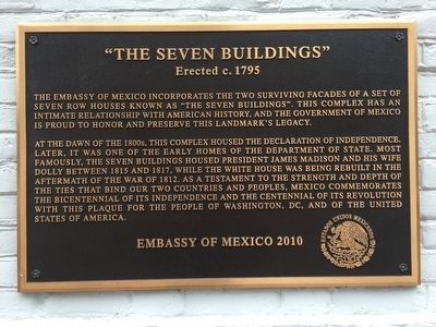 """The Seven Buildings"" Marker image. Click for full size."