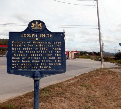 Joseph Smith Marker image. Click for full size.