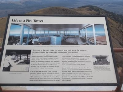 Life in a Fire Tower Marker image. Click for full size.