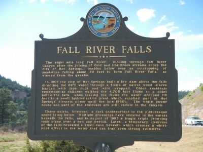 Fall River Falls Marker image. Click for full size.