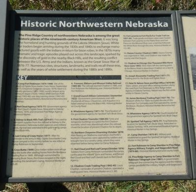 Historic Northwestern Nebraska Marker image. Click for full size.