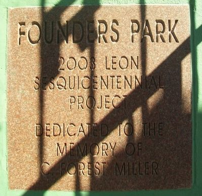 Founders Park Dedication Marker image. Click for full size.