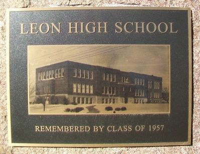 Leon High School Marker image. Click for full size.