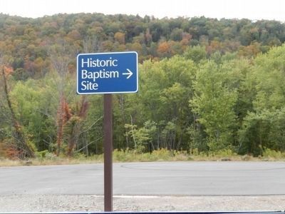"""Go, and Be Baptized"" Marker is near the Historic Baptism Site image. Click for full size."