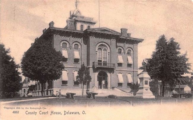 <i>County Court House, Delaware, O.</i> image. Click for full size.