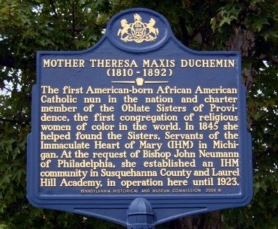 Mother Theresa Maxis Duchemin Marker image. Click for full size.