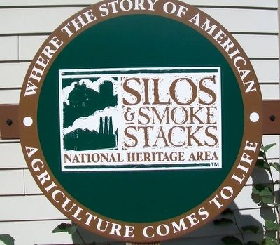 Silos & Smokestacks National Heritage Area Sign image. Click for full size.