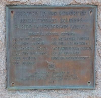 Henderson County Revolutionary War Memorial -1916 image. Click for full size.