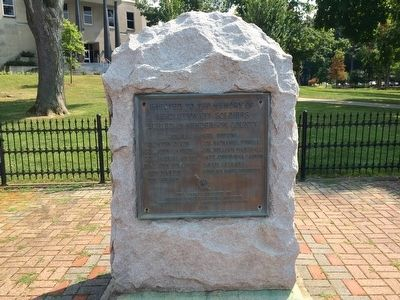 Henderson County Revolutionary War Memorial image. Click for full size.