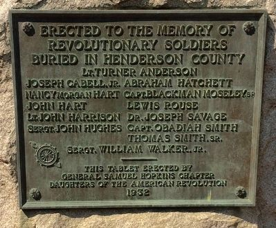 Henderson County Revolutionary War Memorial - 1932 image. Click for full size.