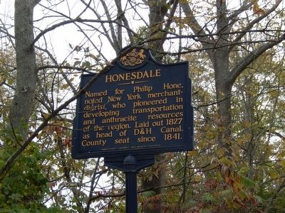 Honesdale Marker image. Click for full size.
