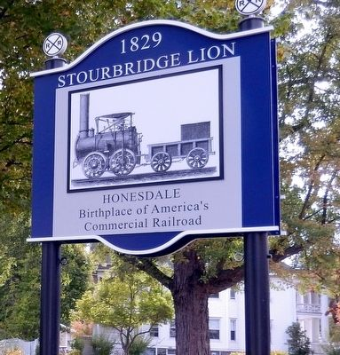 1829 Stourbridge Lion Marker image. Click for full size.