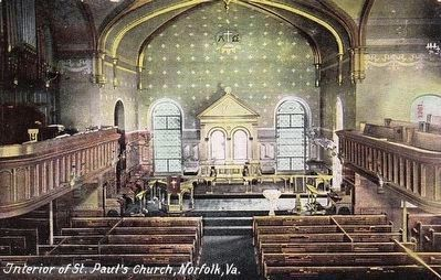 <i>Interior of St. Paul's Church, Norfolk, Va.</i> image. Click for full size.