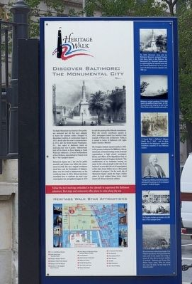 Discover Baltimore: The Monumental City Marker image. Click for full size.