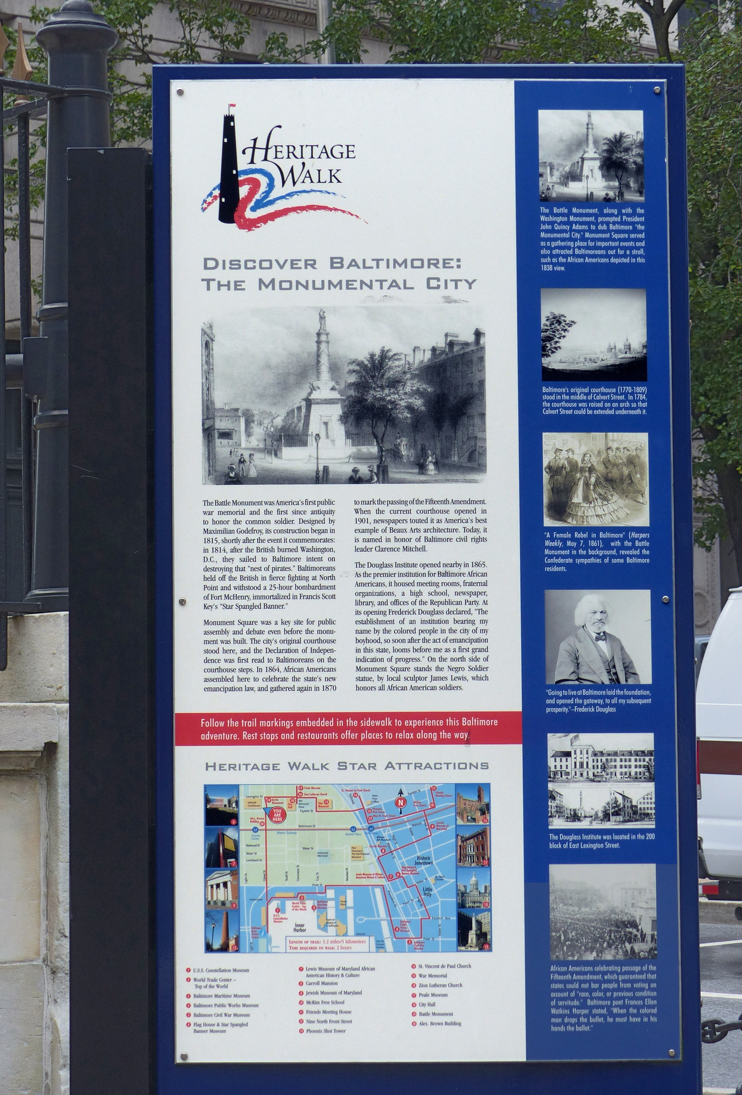 Discover Baltimore: The Monumental City Marker