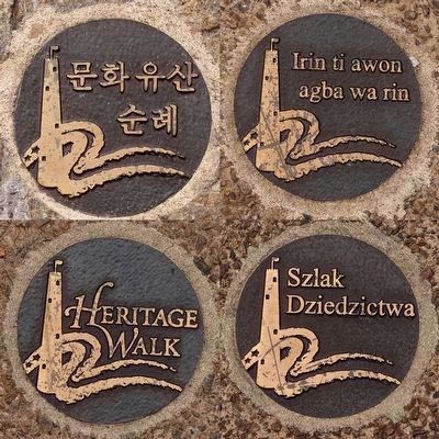 Heritage Walk markers image. Click for full size.