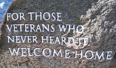 Dows Freedom Rock Veterans Memorial Marker image. Click for full size.
