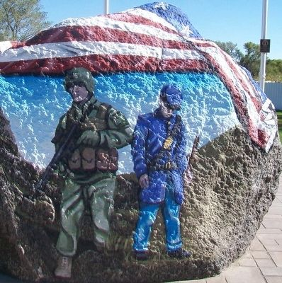 Dows Freedom Rock Veterans Memorial image. Click for full size.