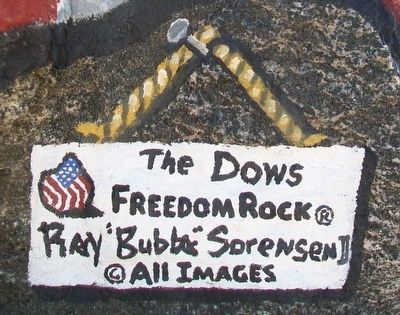 Dows Freedom Rock Veterans Memorial Artist image. Click for full size.