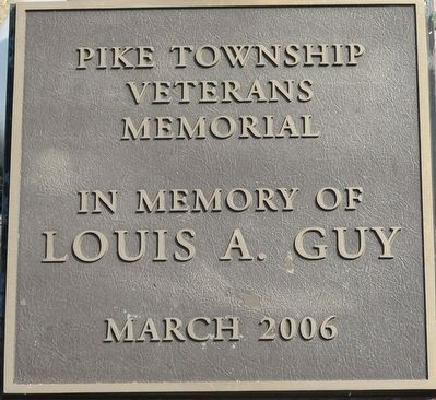 Pike Township Veterans Memorial Marker image. Click for full size.