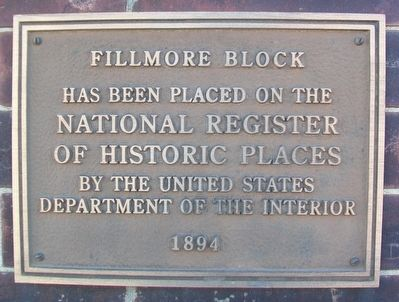 Fillmore Block NRHP Marker image. Click for full size.