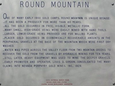 Round Mountain Marker image. Click for full size.