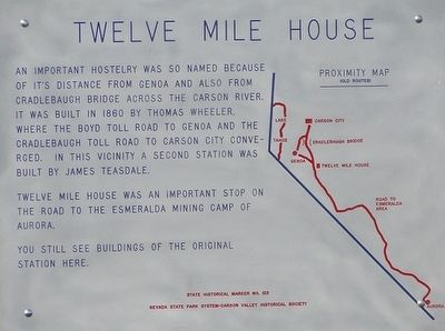 Twelve Mile House Marker image. Click for full size.