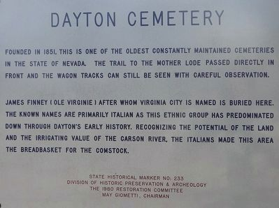 Dayton Cemetery Marker image. Click for full size.
