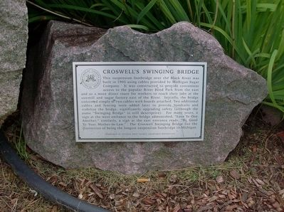 Croswell's Swinging Bridge Marker image. Click for full size.