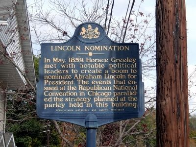 Lincoln Nomination Marker image. Click for full size.