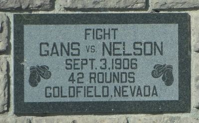 Gans and Nelson Fight Marker image. Click for full size.