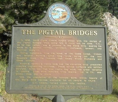 The Pigtail Bridges Marker image. Click for full size.