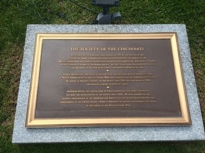 The Society of the Cincinnati Marker image. Click for full size.