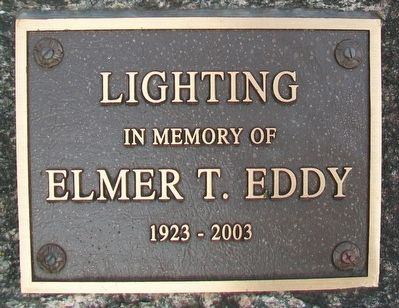Veterans Memorial Lighting Marker image. Click for full size.