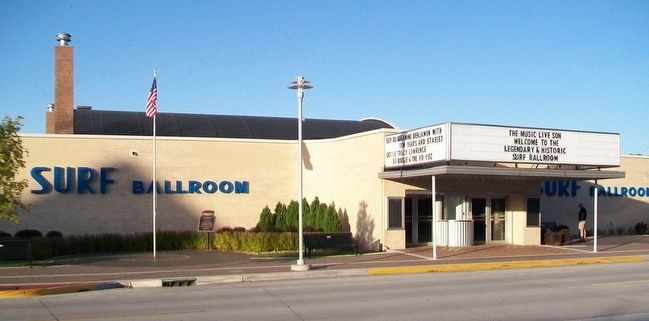 Surf Ballroom and NRHP Marker image. Click for full size.