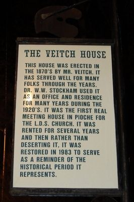 The Veitch House Marker image. Click for full size.