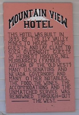Mountain View Hotel Marker image. Click for full size.