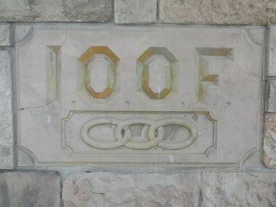 The I.O.O.F.Building Cornerstone image. Click for full size.