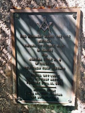Site of First Masonic Meetings Marker image. Click for full size.