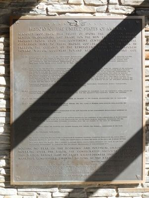 History of the United States of America Marker image. Click for full size.