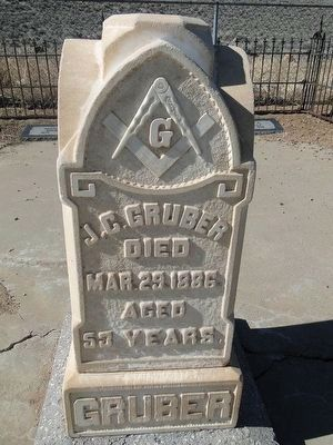 J. C. Gruber Headstone - Died 1886 image. Click for full size.