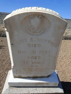 Julius A. Huntoon Headstone - Died 1891 image. Click for full size.