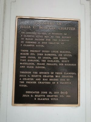 Founders of Julia C. Bulette Chapter Marker image. Click for full size.
