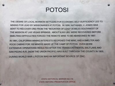 Potosi Marker image. Click for full size.