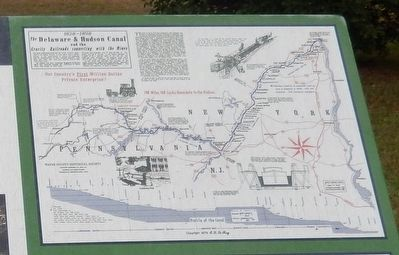 History of Hawley Marker-Map upper right image. Click for full size.